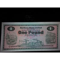 Северная Ирландия. 1 фунт 1978г пресс Northern Bank Limited