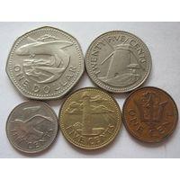 Барбадос набор из 5 монет 1973