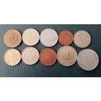 10 разных монет одним лотом. Лот 1