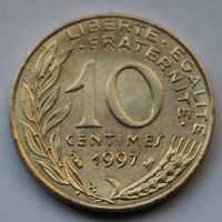 Франция, 10 сантимов 1997 г