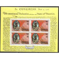 Багамские острова 200 лет США /Блок + 2 марки /