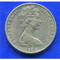 Новая Зеландия 20 центов 1982