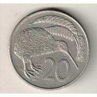 Новая Зеландия 20 цент 1982