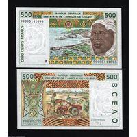 Бенин 500 франков 1999 UNC