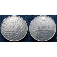 W: Финляндия 50 пенни 1990 (384)