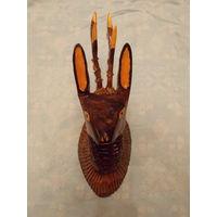 Голова косули, дерево, советский сувенир