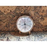Часы Poljot de luxe,позолота 20м,тонкие,редкие,состояние.Старт с рубля.