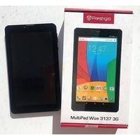 """Prestigio MultiPad Wize 3137 7.0"""" TN+Film (1024x600), Android, флэш-память 8 ГБ, LTE, 3G, 2 ядра, витринный образец, в пленке, отличное состояние, цвет черный, коробка, зарядка, гарантия 1 месяц. Нахо"""