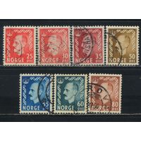 Норвегия 1950 Хокон VII Стандарт #358,361-2,364,366-8