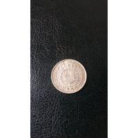 Колония МОЗАМБИК 2,5 эскудо 1950 год( серебро)