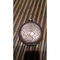 Корпус старинных часов и часть механизма, серебро 825 Ag#10