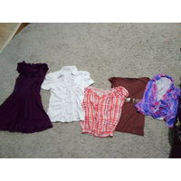 Блузки, платье для девочек