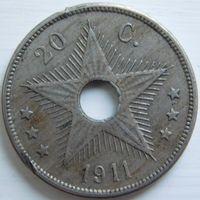 6. Бельгийское Конго 20 с. 1911 год.*
