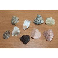 Камни, минералы 9 штук.