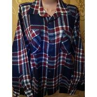 Рубашка мужская фланелевая. р. 42