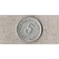 Алжир 5 сантимов 1974 1977 //(Ст)