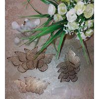 Бабочки 3D.Золото.Серебро.