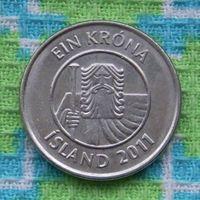 Исландия 1 крона 2011 года