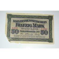 Ковно (Каунас), Немецкая оккупация,50 марок, 1918 г. P-R132