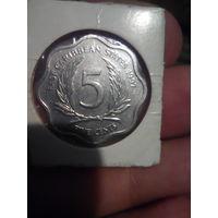 5 центов 1997 г. Восточные Карибы