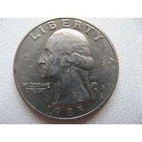 США 25 центов 1985 г. квотер (D)