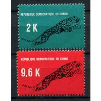 Конго - 1968 - Леопард - [Mi. 314-315] - полная серия - 2 марки. MNH.