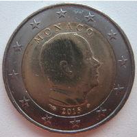 Монако 2 евро 2015 г.