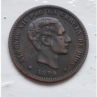 Испания 5 сентимо, 1879 4-9-3