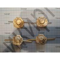 Петличные эмблемы таможенной службы РБ старого образца (цена за пару) алюминий