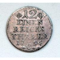 1/12  Рейхс Талера 1754  Прусиия