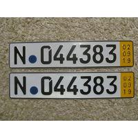 Автомобильный номер Германия N044383
