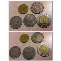 Тайланд - 5 монет - цена за все - (из коллекции, крупные)