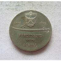 Германия - ГДР 5 марок 1976 200 лет со дня рождения Фердинанда фон Шилля