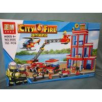 Конструктор аналог LEGO. Пожарная машина 2. Цена снижена.