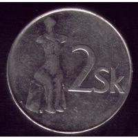 2 Кроны 1995 год Словакия
