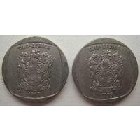 ЮАР 1 ранд 1997, 1999 г. Цена за 1 шт. (gb)