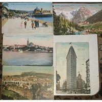 Цветные дореволюционные открытки. Нью-Йорк, Тироль, Ницца, Константинопль