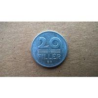 Венгрия 20 филлеров, 1987г.  (Б-3)