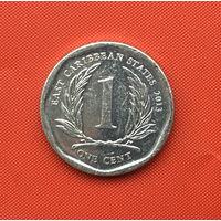 76-12 Восточные Карибы, 1 цент 2013 г.