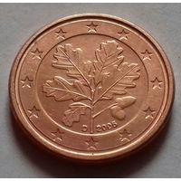 1 евроцент, Германия 2005 D, AU