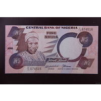 Нигерия 5 найра 2005 UNC