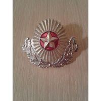 Кокарда ВС Беларуси, белая с малиновой звездой, СЭНС, редкая!