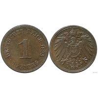 YS: Германия, Рейх, 1 пфенниг 1893A, KM# 10