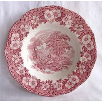 Тарелка суповая 6 Фарфор Англия Enoch Wedgwood Стаффордшир WOODLAND