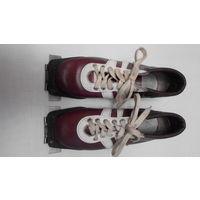 Ботинки лыжные Спорт, 36 р-р, натуральная кожа