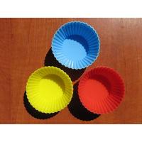 Формочки для кексов и маффинов силиконовые новые