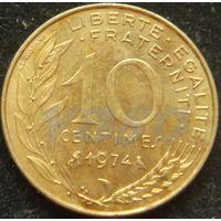 2006:  10 сантимов 1974 Франция KM# 929