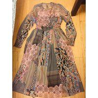 Платье Zara  в стиле Пэчворк  S