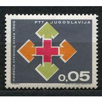 Медицина. Красный крест. Югославия. 1966. Полная серия 1 марка. Чистая