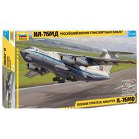Советский военно-транспортный самолет Ил-76 МД, сборная модель 1/144 Звезда 7011